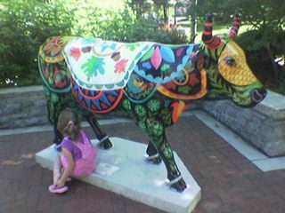 Hershey Cow In town park