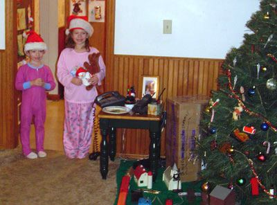 Drew and Alyssa, Christmas 2003